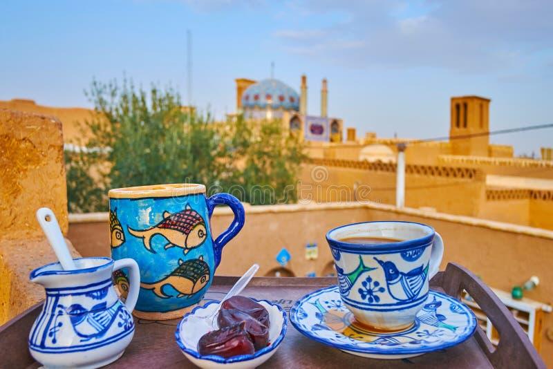 Στον υπαίθριο καφέ Yazd, Ιράν στοκ φωτογραφίες με δικαίωμα ελεύθερης χρήσης