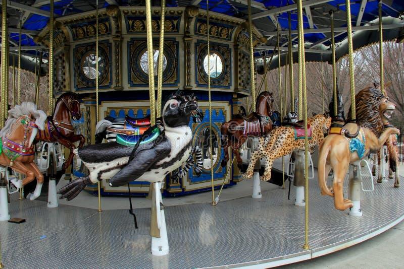 Στοργικά επεξεργασμένος γύρος ιπποδρομίων με την περίπλοκη λεπτομέρεια της άγριας φύσης, ζωολογικός κήπος της Βαλτιμόρης, Μέρυλαν στοκ εικόνα με δικαίωμα ελεύθερης χρήσης