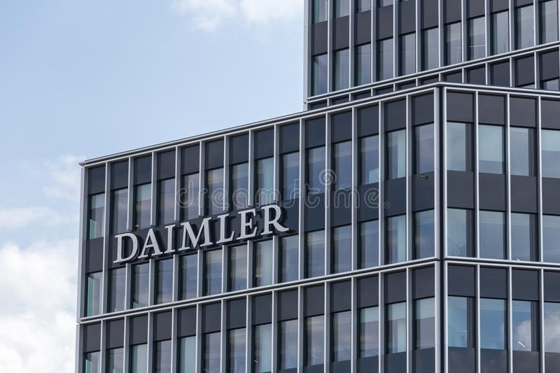 Στουτγάρδη, baden-Wurttemberg/Γερμανία - 21 08 18: daimler κεντρικό εργοστάσιο Στουτγάρδη Γερμανία στοκ εικόνες με δικαίωμα ελεύθερης χρήσης