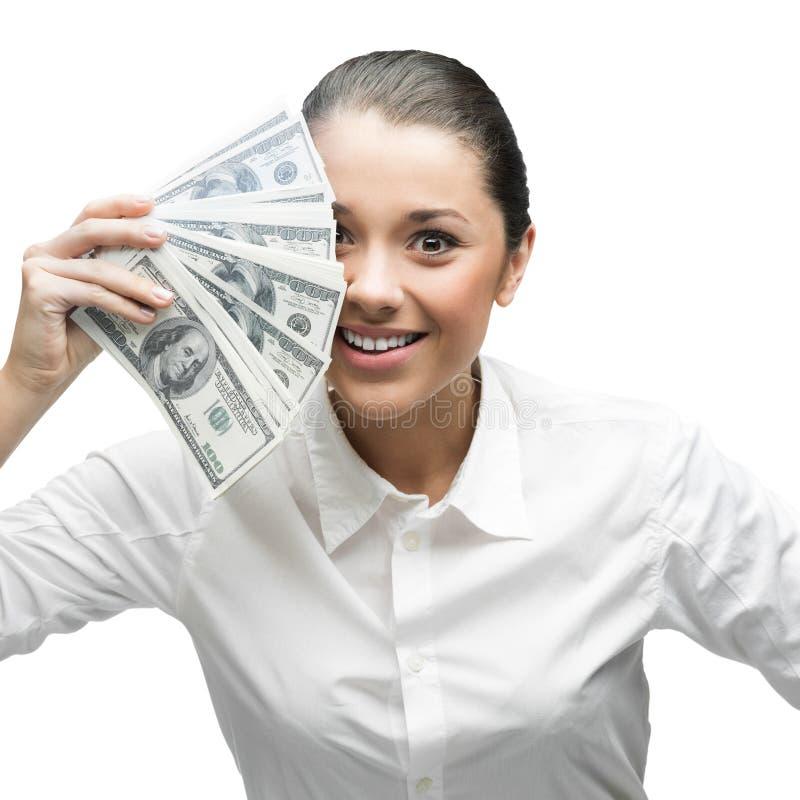 Στοχαστικά χρήματα εκμετάλλευσης επιχειρηματιών στοκ φωτογραφίες