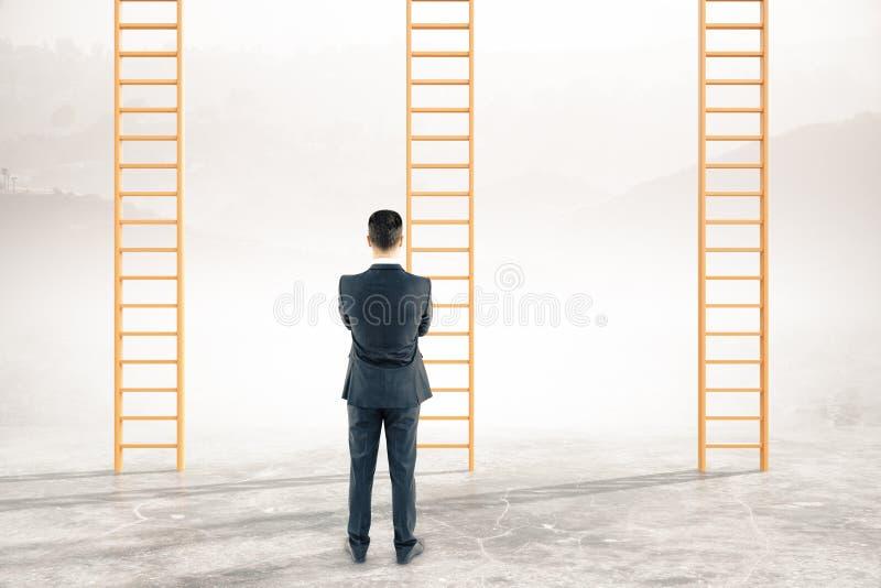 Στοχαστικές σκάλες σταδιοδρομίας επιχειρηματιών διανυσματική απεικόνιση