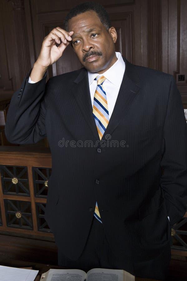 Στοχαστικός δικηγόρος στοκ εικόνες με δικαίωμα ελεύθερης χρήσης