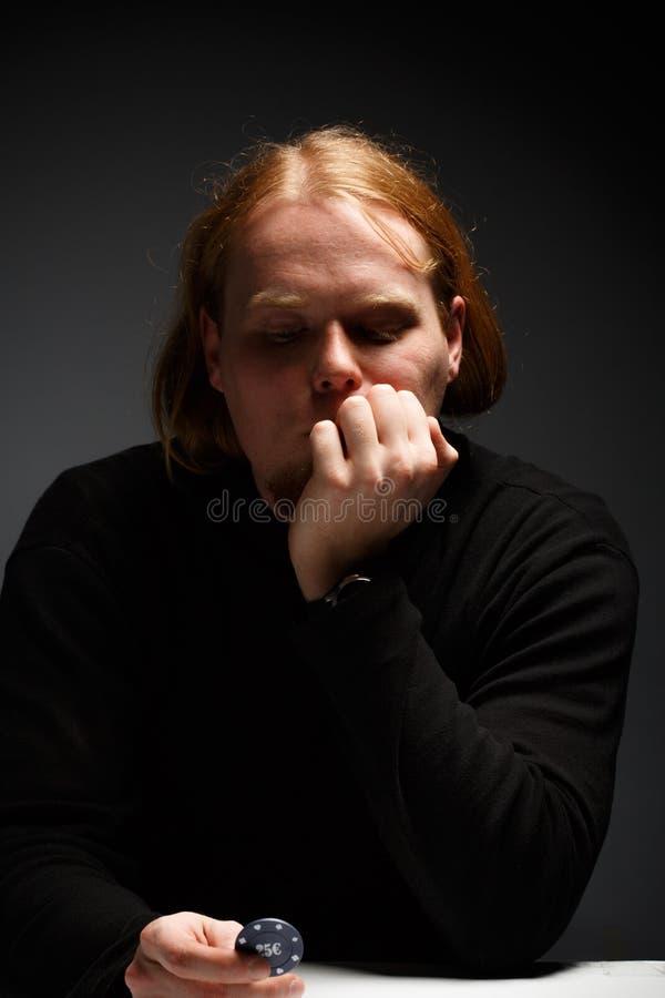Στοχαστικό πρόσωπο στοκ φωτογραφίες με δικαίωμα ελεύθερης χρήσης