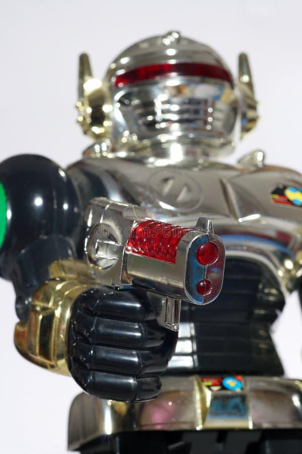 στοχεύοντας το παιχνίδι ρομπότ πυροβόλων όπλων εσείς στοκ εικόνες με δικαίωμα ελεύθερης χρήσης
