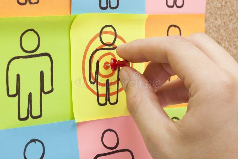 Στοχεύστε στο χέρι πελατών σας στοκ φωτογραφίες με δικαίωμα ελεύθερης χρήσης