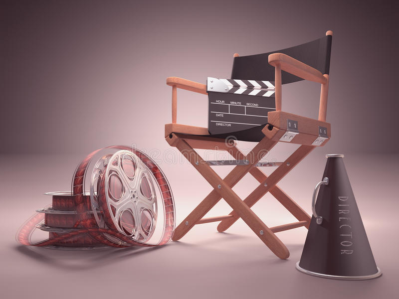 Στούντιο κινηματογράφων απεικόνιση αποθεμάτων
