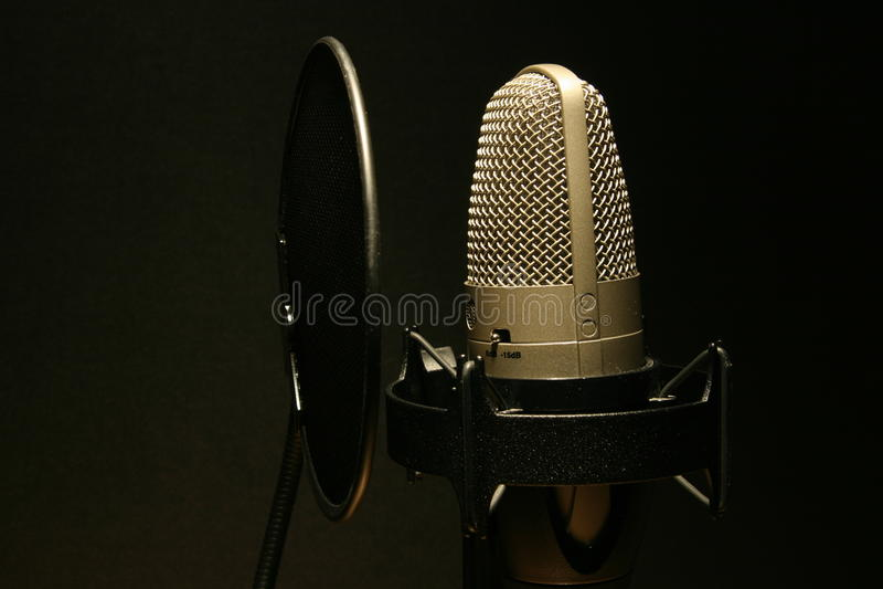 στούντιο μικροφώνων στοκ εικόνα