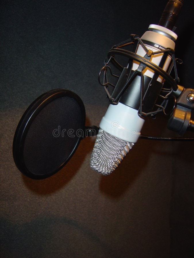 στούντιο μικροφώνων στοκ εικόνες
