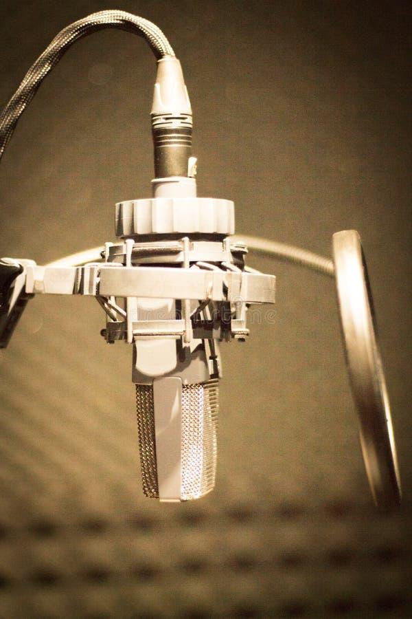 Στούντιο mic υγιούς καταγραφής στοκ εικόνες