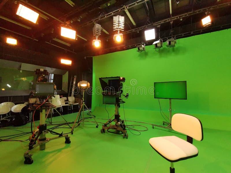 Στούντιο TV - εξοπλισμός για τη μαγνητοσκόπηση στοκ φωτογραφία με δικαίωμα ελεύθερης χρήσης