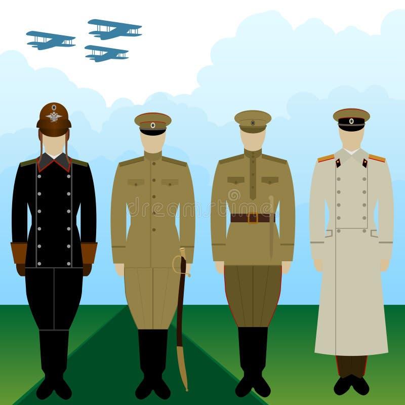 Στολές στρατιωτική πειραματική τσαρική Ρωσία διανυσματική απεικόνιση