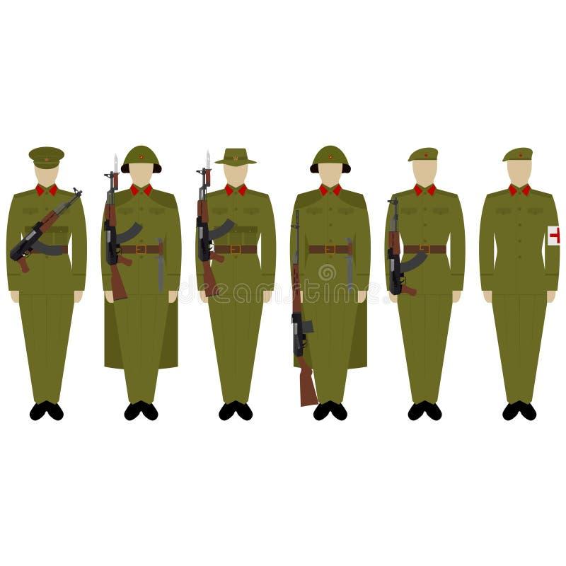 Στολές στρατού του Βιετνάμ διανυσματική απεικόνιση
