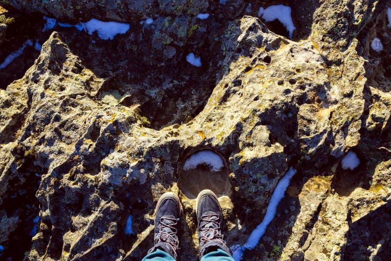 Στο βράχο Ταξίδι στοκ εικόνες