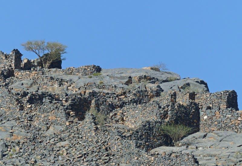Στο δρόμο στο Jebel υποκρίνεται την άποψη, Ομάν στοκ φωτογραφία με δικαίωμα ελεύθερης χρήσης