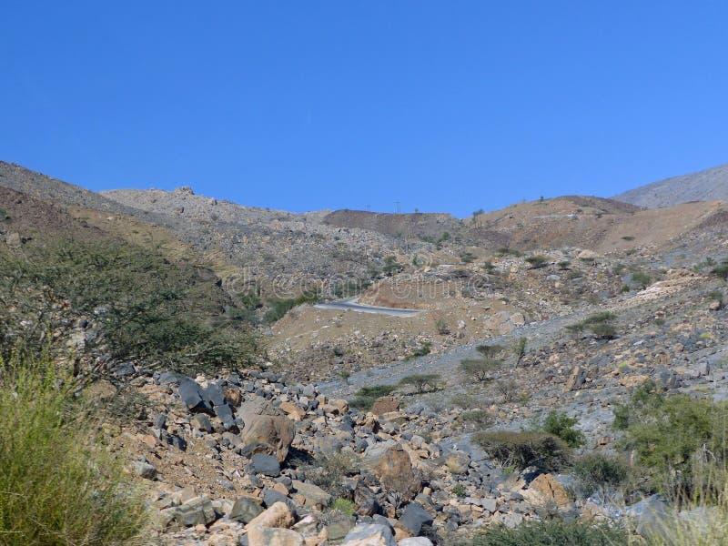 Στο δρόμο στο Jebel υποκρίνεται την άποψη, Ομάν στοκ εικόνες