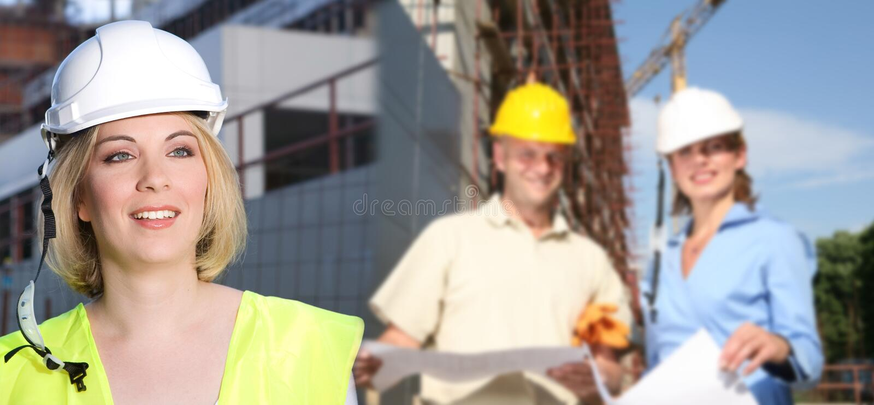 Στο εργοτάξιο οικοδομής στοκ εικόνες