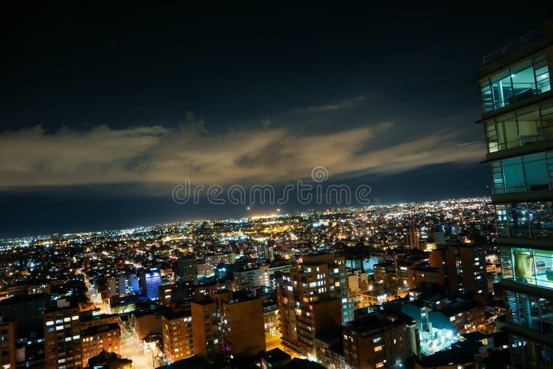 Στο κέντρο της πόλης άποψη οριζόντων Bogotà ¡, Κολομβία στοκ εικόνες