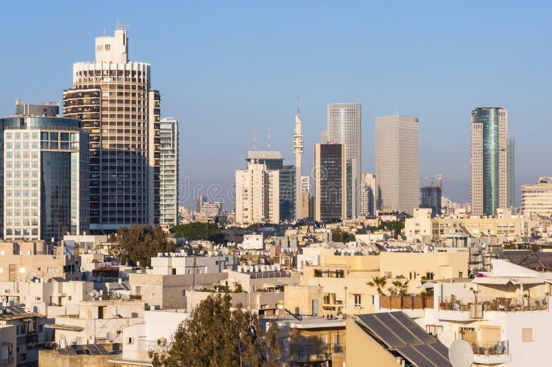 Στο κέντρο της πόλης εικονική παράσταση πόλης οριζόντων του Τελ Αβίβ στοκ φωτογραφίες με δικαίωμα ελεύθερης χρήσης