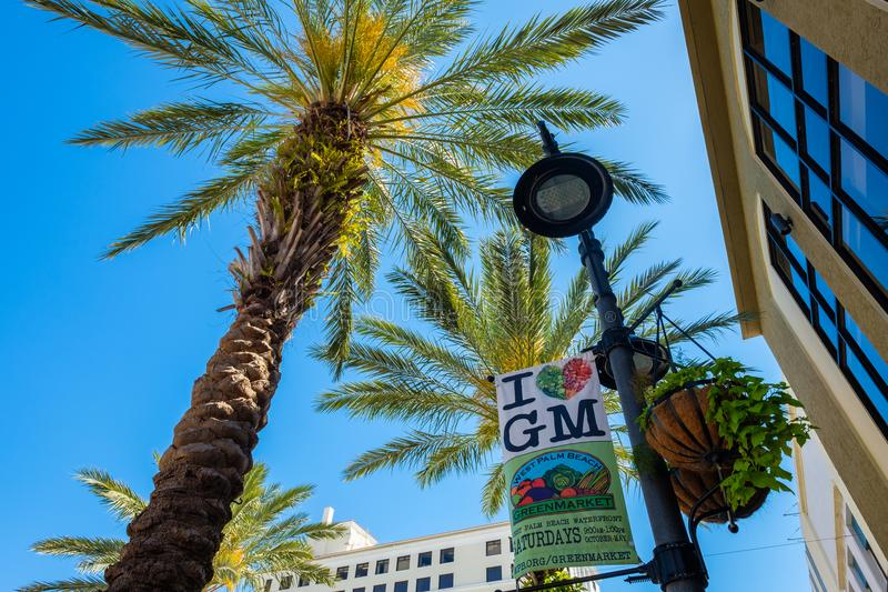 Στο κέντρο της πόλης εικονική παράσταση πόλης του δυτικού Palm Beach στοκ εικόνες με δικαίωμα ελεύθερης χρήσης