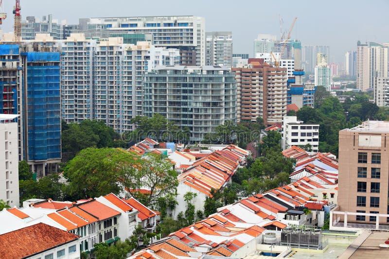 στο κέντρο της πόλης κατοικημένη Σινγκαπούρη στοκ εικόνες με δικαίωμα ελεύθερης χρήσης