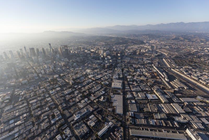 Στο κέντρο της πόλης κεραία περιοχής τεχνών του Λος Άντζελες στοκ εικόνα με δικαίωμα ελεύθερης χρήσης