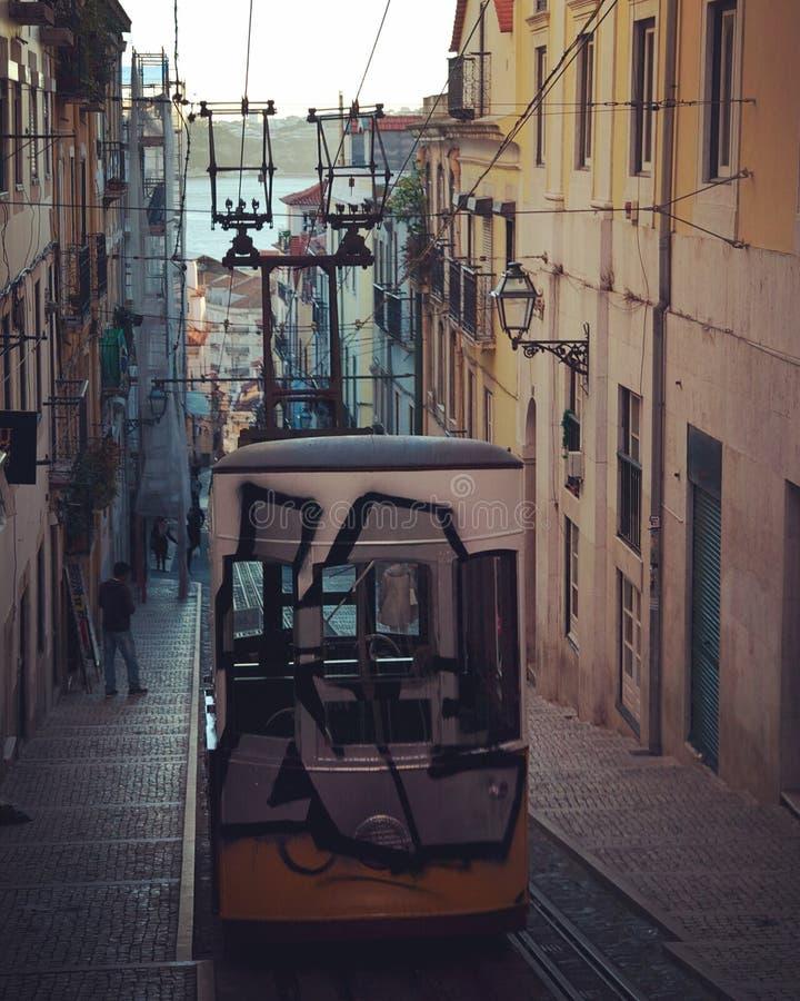 στο κέντρο της πόλης Λισσαβώνα στοκ εικόνες με δικαίωμα ελεύθερης χρήσης