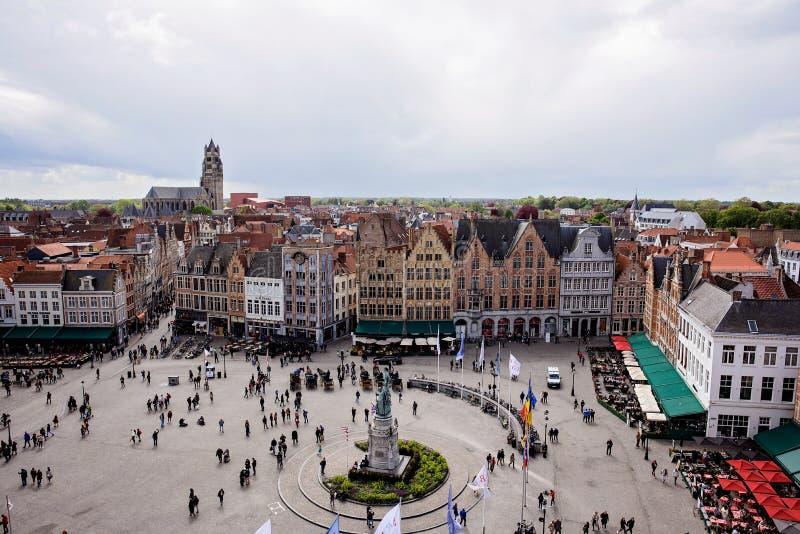Στο κέντρο της πόλης Μπρυζ Βέλγιο στοκ φωτογραφία