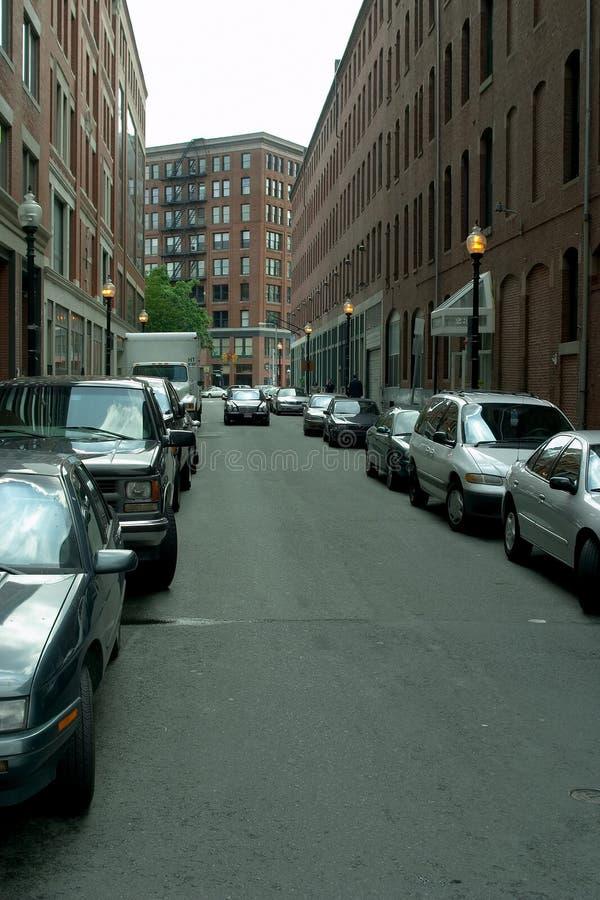 στο κέντρο της πόλης οδός στοκ φωτογραφίες