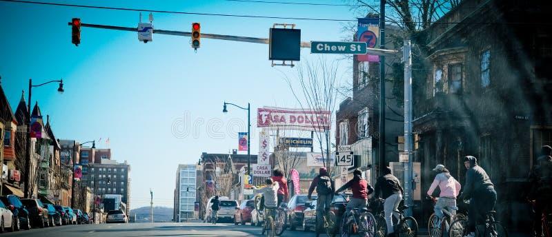 Στο κέντρο της πόλης οδός Allentown στοκ εικόνα με δικαίωμα ελεύθερης χρήσης
