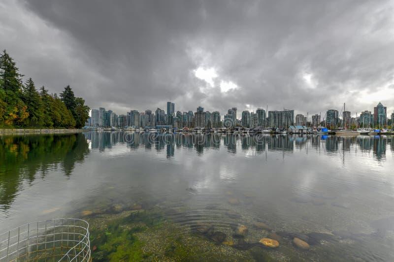 Στο κέντρο της πόλης ορίζοντας του Βανκούβερ - Βανκούβερ, Καναδάς στοκ εικόνα