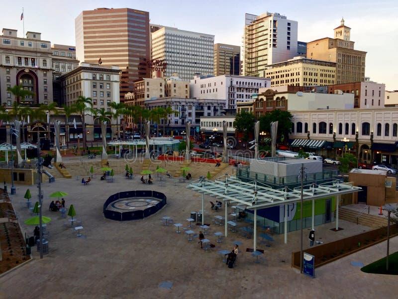 Στο κέντρο της πόλης Σαν Ντιέγκο Καλιφόρνια στοκ φωτογραφία με δικαίωμα ελεύθερης χρήσης