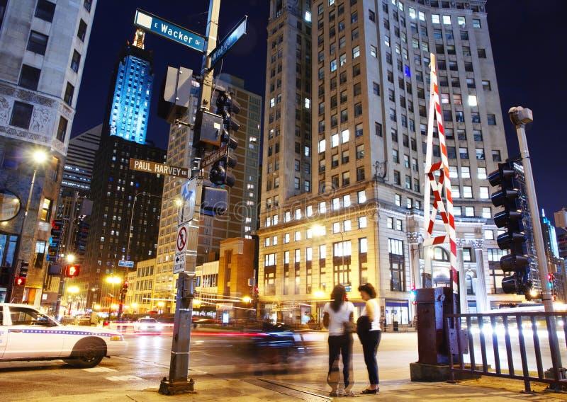 Στο κέντρο της πόλης Σικάγο   στοκ εικόνες με δικαίωμα ελεύθερης χρήσης