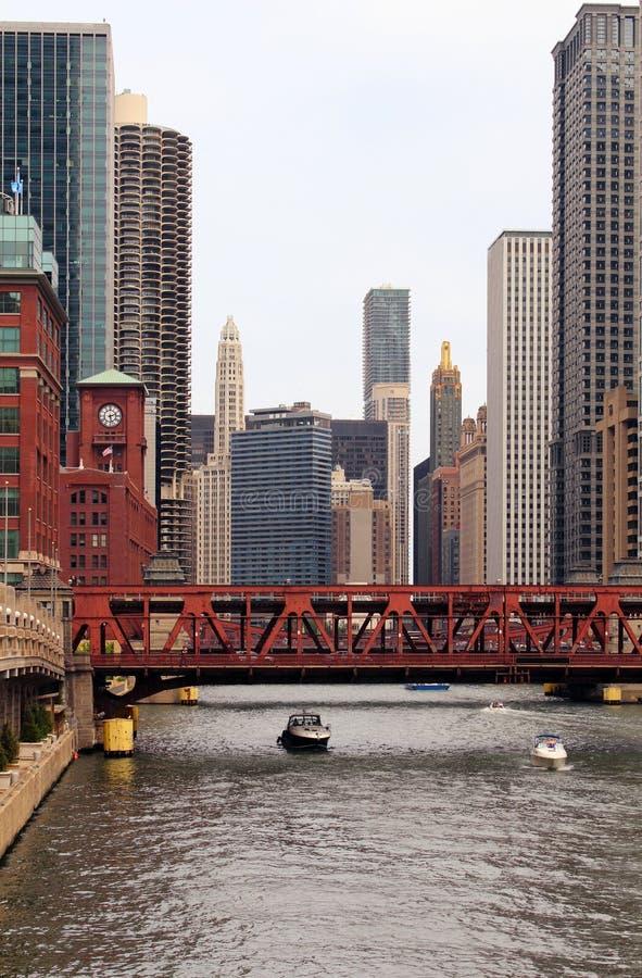 Στο κέντρο της πόλης Σικάγο στοκ φωτογραφία