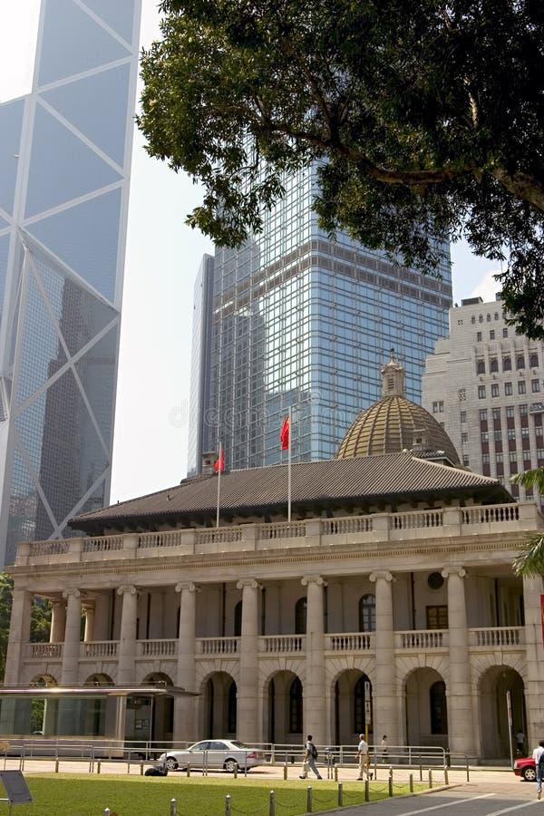 στο κέντρο της πόλης Χογκ Κογκ στοκ φωτογραφία