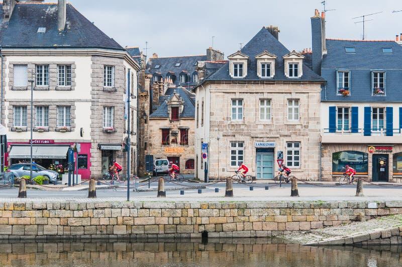 Στο κέντρο της πόλης Landerneau σε Finistère στοκ φωτογραφία