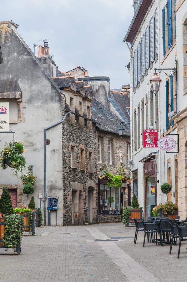 Στο κέντρο της πόλης Landerneau σε Finistère στοκ εικόνες με δικαίωμα ελεύθερης χρήσης
