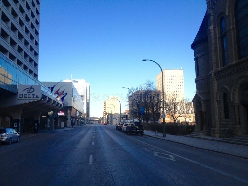 Στο κέντρο της πόλης Winnipeg στοκ εικόνα