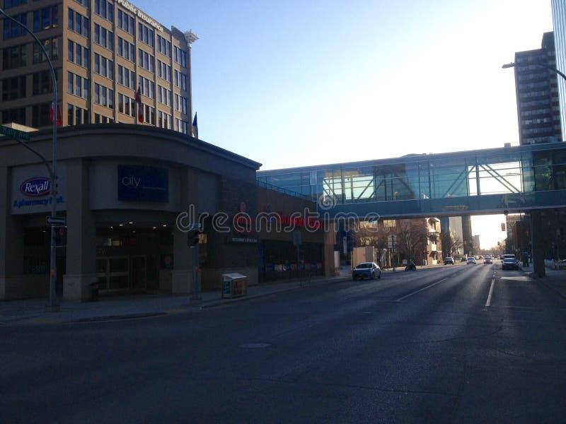 Στο κέντρο της πόλης Winnipeg στοκ φωτογραφίες