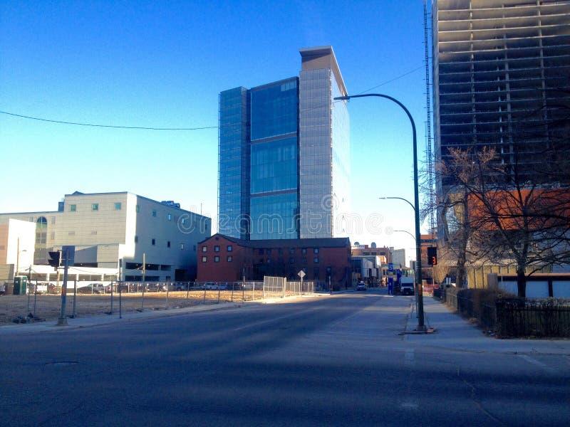 Στο κέντρο της πόλης Winnipeg στοκ εικόνα με δικαίωμα ελεύθερης χρήσης