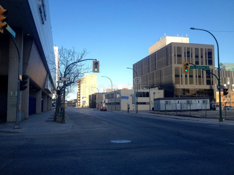 Στο κέντρο της πόλης Winnipeg στοκ φωτογραφία με δικαίωμα ελεύθερης χρήσης