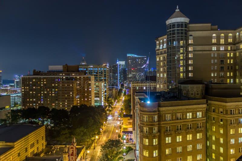 Στο κέντρο της πόλης Ατλάντα, άποψη στεγών GA στοκ εικόνες