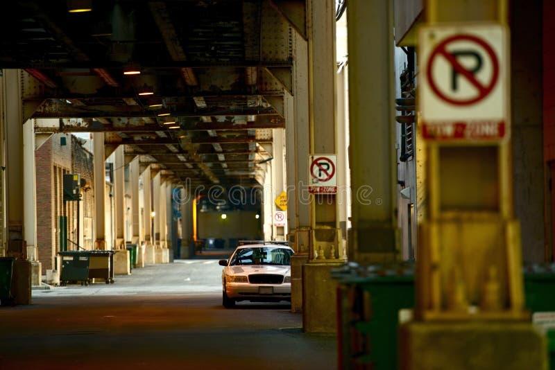 Στο κέντρο της πόλης αλέα του Σικάγου στοκ εικόνες