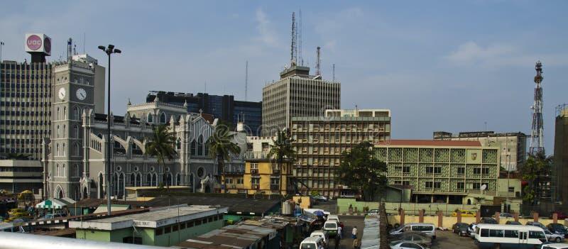 Στο κέντρο της πόλης Λάγκος στοκ φωτογραφία