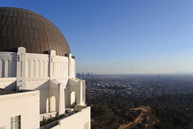 Στο κέντρο της πόλης Λα από το παρατηρητήριο Griffiths, Καλιφόρνια, ΗΠΑ στοκ εικόνες
