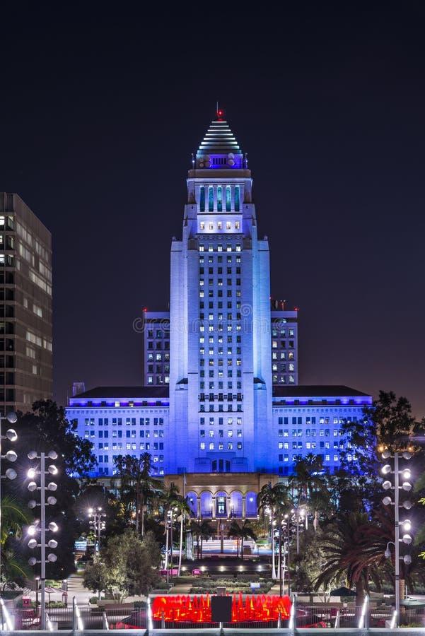 Στο κέντρο της πόλης Λος Άντζελες Δημαρχείο στοκ εικόνα με δικαίωμα ελεύθερης χρήσης