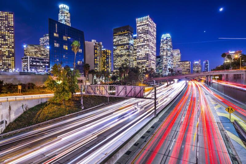Στο κέντρο της πόλης Λος Άντζελες στοκ εικόνες