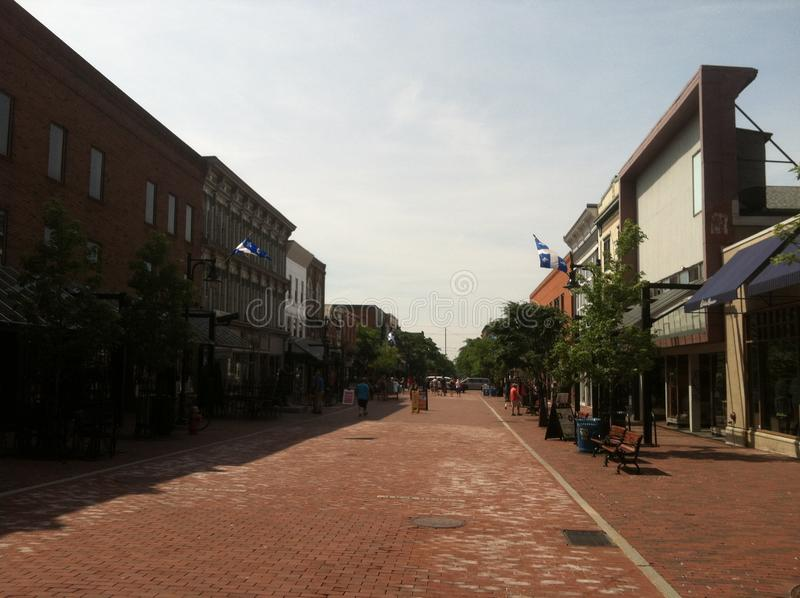 Στο κέντρο της πόλης Μπέρλινγκτον Βερμόντ 2 στοκ εικόνες