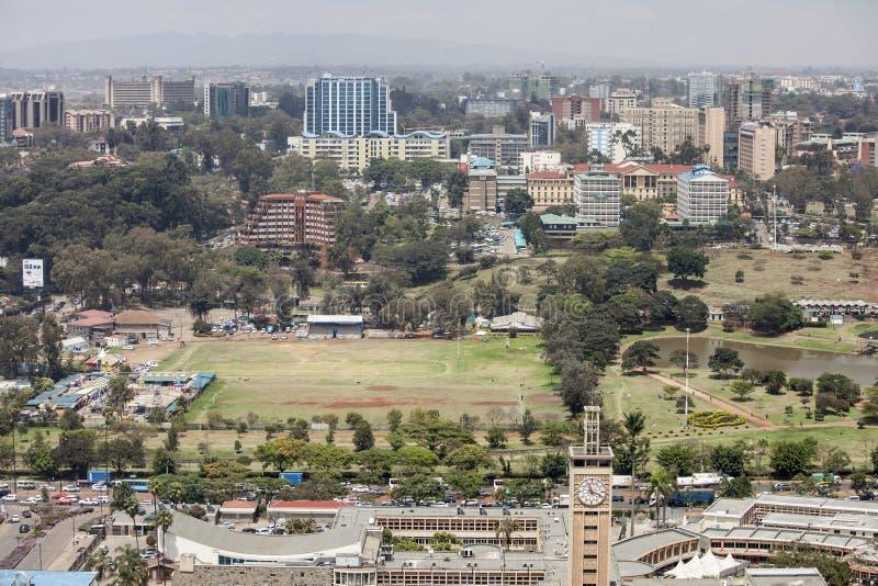 Στο κέντρο της πόλης Ναϊρόμπι, Κένυα στοκ εικόνες