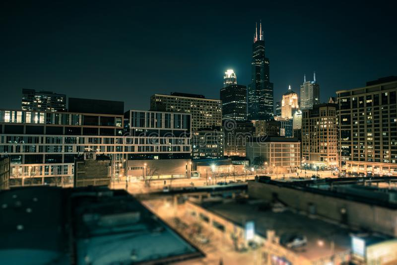 Στο κέντρο της πόλης νότος του Σικάγου στοκ εικόνα με δικαίωμα ελεύθερης χρήσης