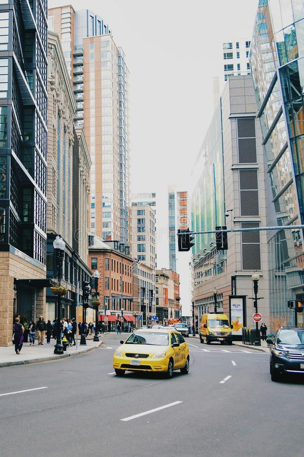 Στο κέντρο της πόλης περιοχή της Βοστώνης στοκ φωτογραφίες με δικαίωμα ελεύθερης χρήσης